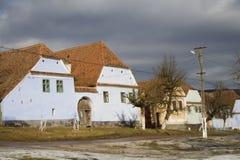 Saxon village. On UNESCO list in Romania royalty free stock photos