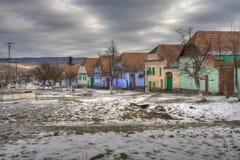 Saxon village. In Romania on the UNESCO heritage list royalty free stock photos