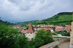 Saxon village in Transylvania Royalty Free Stock Images