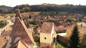 Saxon village in Transylvania Royalty Free Stock Photography