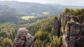Saxonian Swiss Rock Formation near Dresden Stock Photo