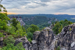 Saxonian Swiss Rock Formation near Dresden Stock Photography