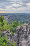 Saxonian Swiss Rock Formation near Dresden Stock Photos