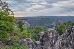 Saxonian Swiss Rock Formation near Dresden Stock Image