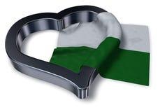 Saxony flag and heart symbol Royalty Free Stock Image