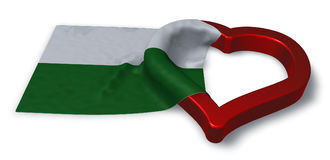 Saxony flag and heart symbol Stock Photo