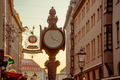 City of Dresden. Historical Center. Autumn evening in Dresden stock images