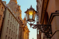 City of Dresden. Historical Center. Autumn evening in Dresden stock photography
