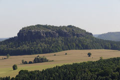Saxony Switzerland. Table mountain Pfaffenstein in the Elbsandsteingebirge, Saxony Switzerland Royalty Free Stock Photo