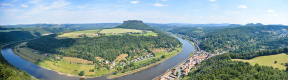 Saxony Switzerland panorama Stock Photography
