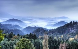Saxony Switzerland park Stock Photography