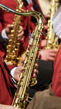 Saxophon-Spielen Stockfoto