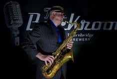 Saxophon-Spieler Stockfoto