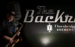 Saxophon-Spieler Lizenzfreie Stockfotos