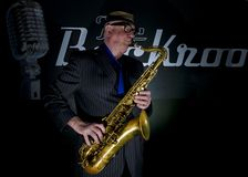 Saxophon-Spieler Stockfotografie