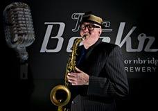 Saxophon-Spieler Stockbilder
