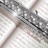 Saxophon und Anmerkungen Lizenzfreie Stockfotos