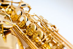 Saxophone κουμπιών Στοκ Φωτογραφία