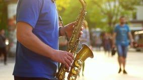 Saxophone μουσικής πόλεων φιλμ μικρού μήκους