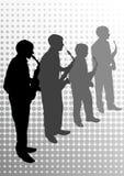 saxophone μουσικών Στοκ Φωτογραφίες