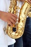saxophone παιχνιδιού προσώπων Στοκ φωτογραφίες με δικαίωμα ελεύθερης χρήσης