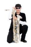saxophone φορέων Στοκ φωτογραφίες με δικαίωμα ελεύθερης χρήσης