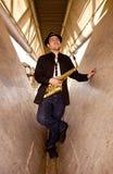 saxophone φορέων Στοκ Εικόνα