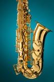 Saxophone - χρυσό κλασσικό όργανο saxophone alto Στοκ Φωτογραφία
