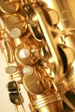 Saxophone. Close-up shot of a Saxophone Royalty Free Stock Photo