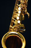 Saxophone. A part of the ALT saxophone Stock Photo