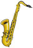 Saxophone. A gold  saxophone musical instrument Stock Image