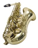Saxophone. Sliced photographies different music instrument royalty free stock photography
