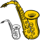 Saxophone. An image of a saxophone stock illustration