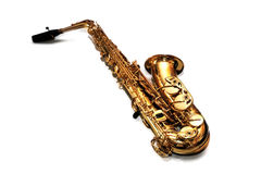 Saxophone. Isolate on white background Royalty Free Stock Photo