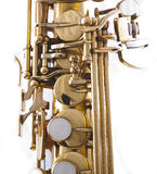 Saxophone. Detail of a golden saxophone Stock Photos