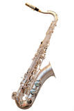 Saxophone. The image of a saxophone isolated under a white background Stock Photo