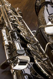 Saxophone. Close up detail of tenor saxophone stock photos