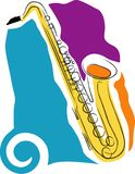 Saxophone. A vector, illustration icon design for a saxophone Royalty Free Stock Photography