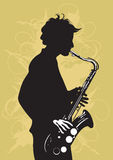 Saxophone. Illustration of a man playing saxophone vector illustration