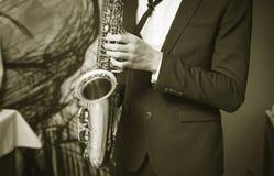saxophone Immagine Stock Libera da Diritti