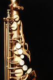 Saxophone alto. Isolated on black background Royalty Free Stock Photography