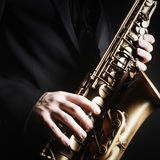Saxophone alto music instruments Royalty Free Stock Photography