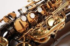 Saxophone background Stock Image