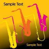 Saxophone Background Royalty Free Stock Photo