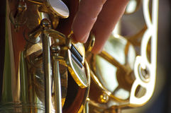 Saxophone background Royalty Free Stock Images