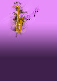 Saxophone backgrund Royalty Free Stock Photography