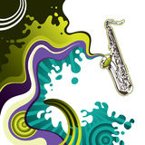 Saxophone banner Stock Photography