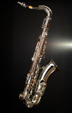 Saxophone on black background Stock Photo