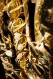 Saxophone  on black background Royalty Free Stock Photo