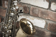 Saxophone Brick Wall Stock Photography